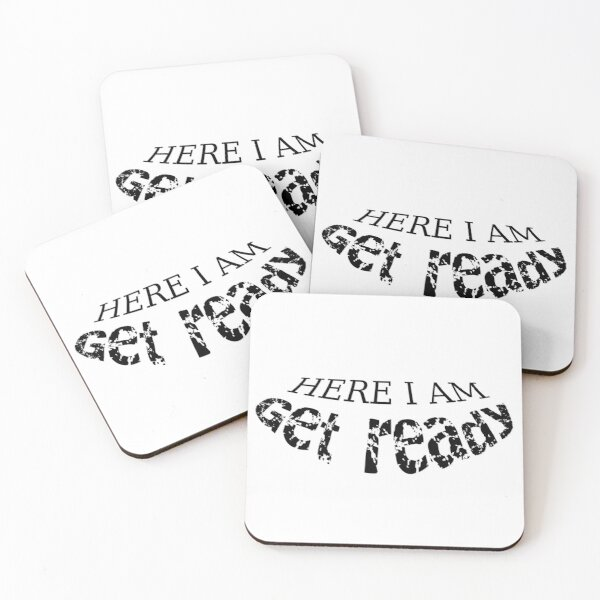 Get ready Coasters (Set of 4)