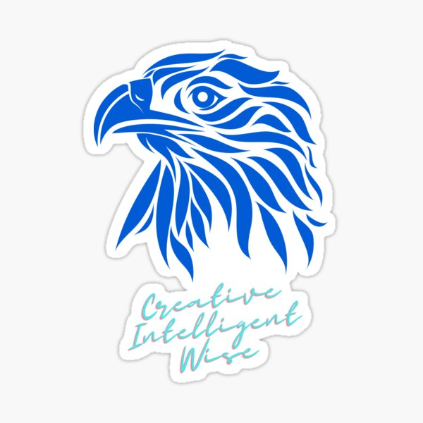 Águila creativa Pegatina