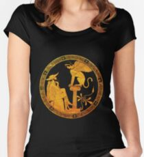 Oedipus and the Sphinx  Women's Fitted Scoop T-Shirt