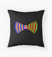 Rainbow Bowtie Throw Pillow
