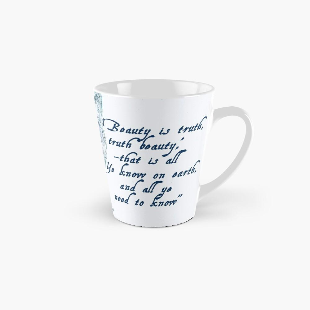 John Keats 'Beauty is Truth' quotation Mug