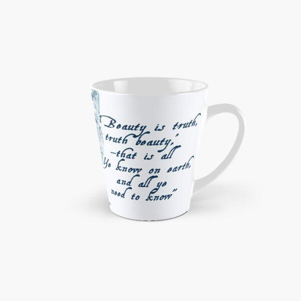 John Keats 'Beauty is Truth' quotation Tall Mug