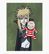 The Goblin King with Toby cartoon Photographic Print