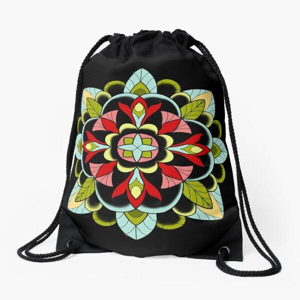 Muted Mandala Drawstring Bag