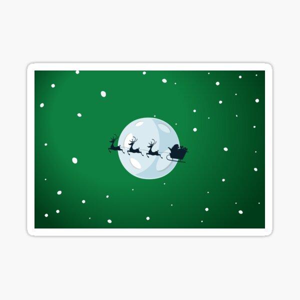 Christmas eve Green - Aqua Libra  Sticker