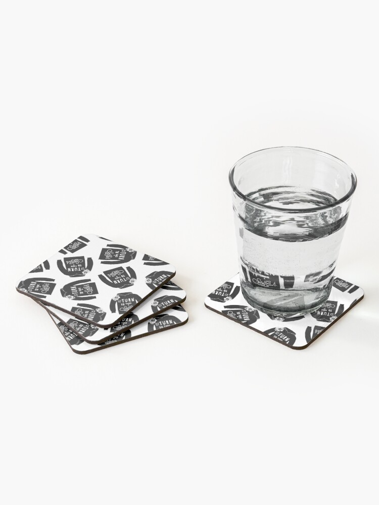 Alternate view of Copy of David rose sweater..warmest regards  Coasters (Set of 4)