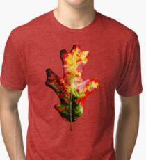 Colorful Autumn Oak Leaf Tri-blend T-Shirt