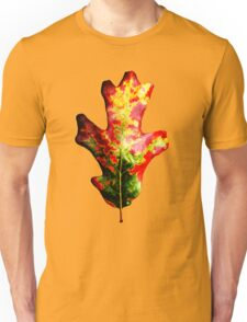 Colorful Autumn Oak Leaf Unisex T-Shirt