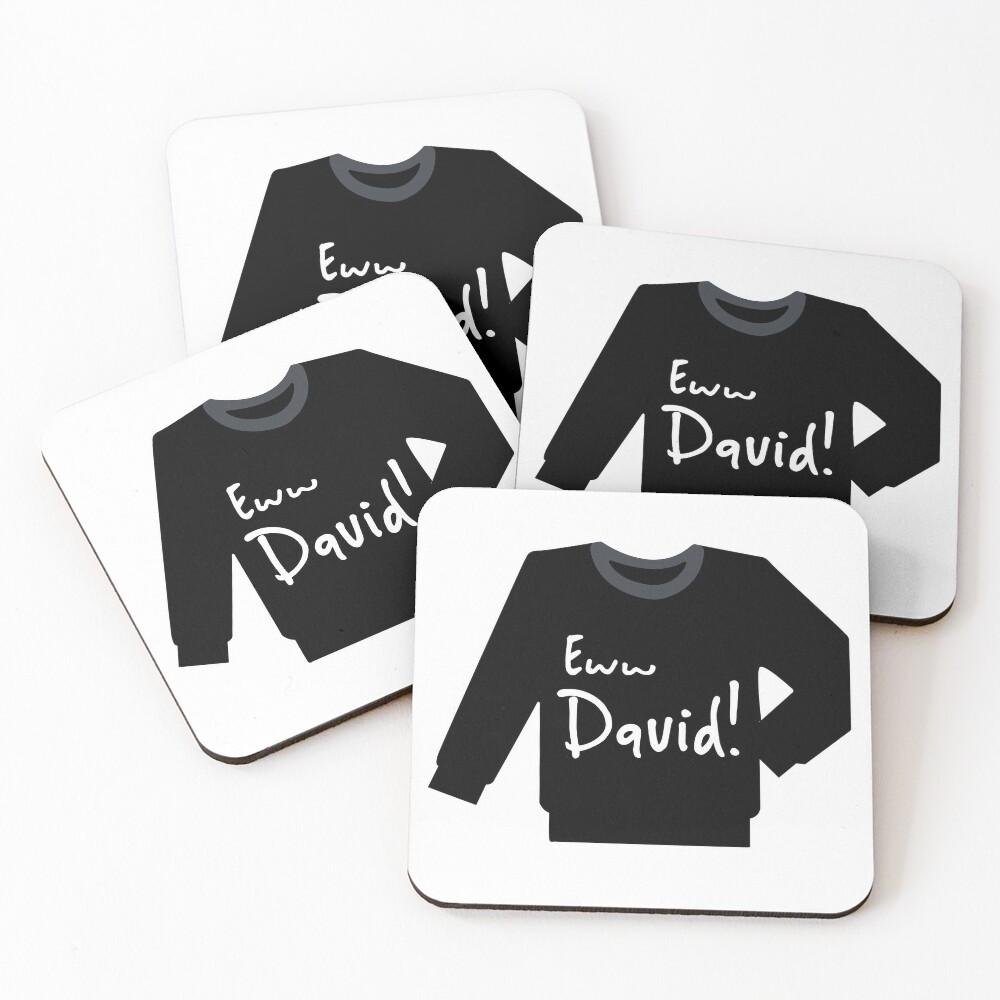 David rose sweater..eww David! Coasters (Set of 4)