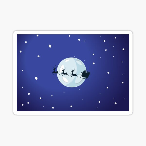 Christmas eve Purple - Aqua Libra  Sticker