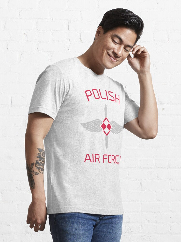 Alternate view of Model 110 - Polish Air Force Essential T-Shirt