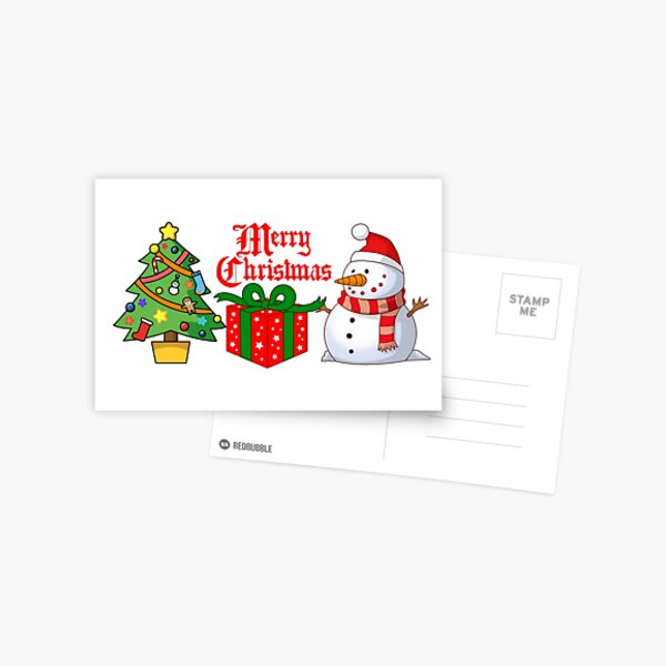 Merry Christmas Home Decor  Postcard