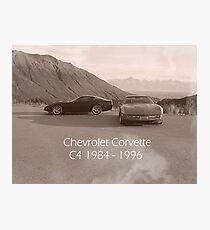 C4 Corvette Photographic Print