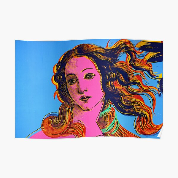 The Birth of Venus by Sandro Botticelli pop art Poster