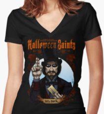 Halloween Saints: Mr. Dark Fitted V-Neck T-Shirt