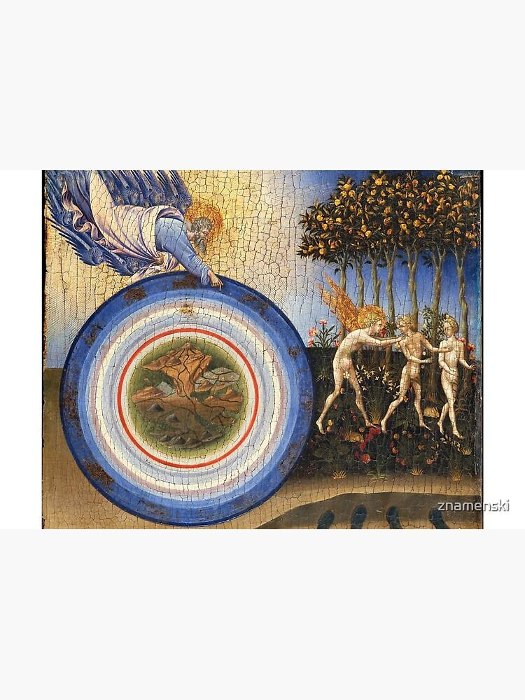 The Creation of the World and the Expulsion from Paradise,1445 Giovanni di Paolo di Grazia, Italian by znamenski