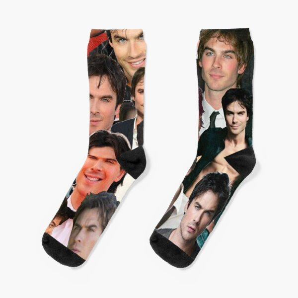 Ian Somerhalder Photo Collage Socks