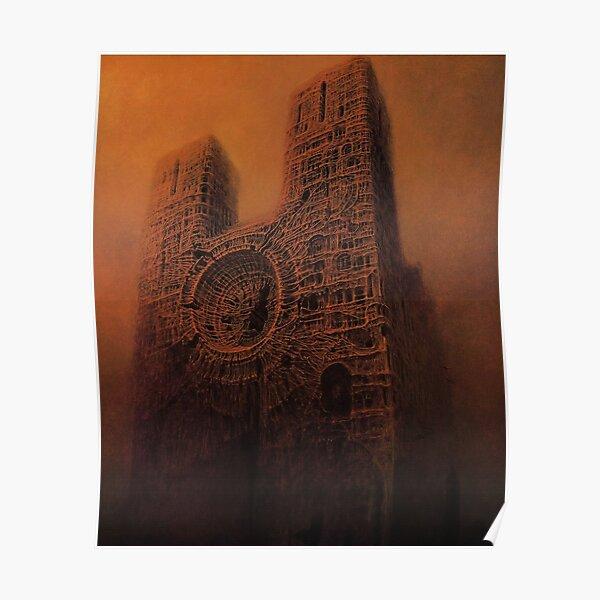 Untitled (Cathedral), by Zdzisław Beksiński Poster