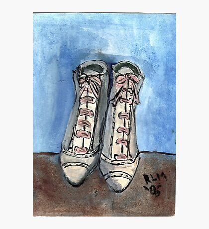 High Laced Boots Photographic Print