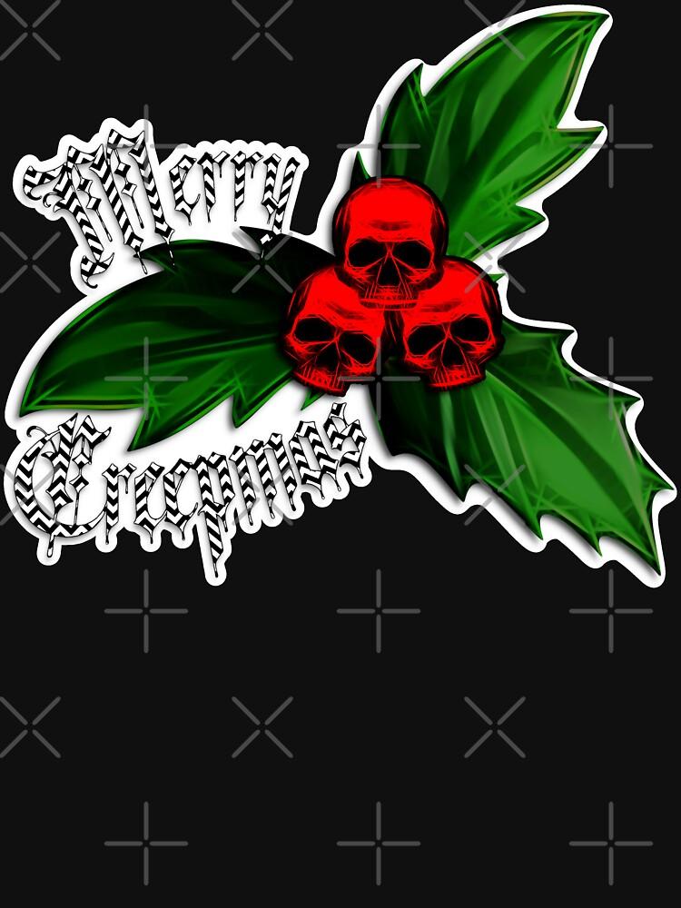 Christmas - Creepmas Unholy Holly Ornament by RabbitLair