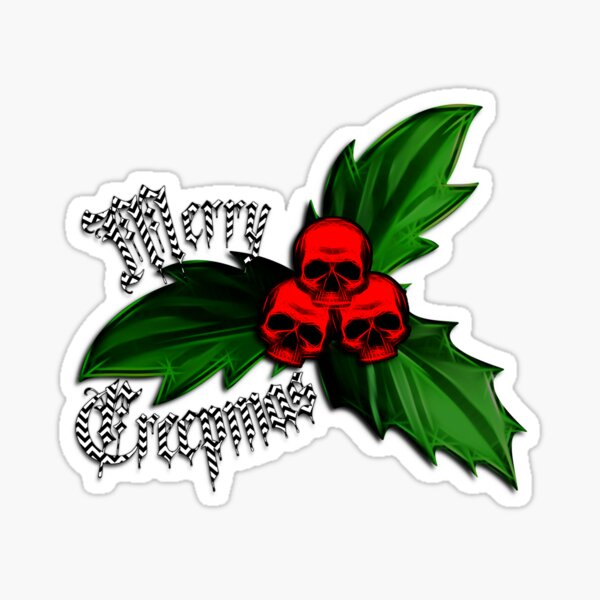 Christmas - Creepmas Unholy Holly Ornament Sticker