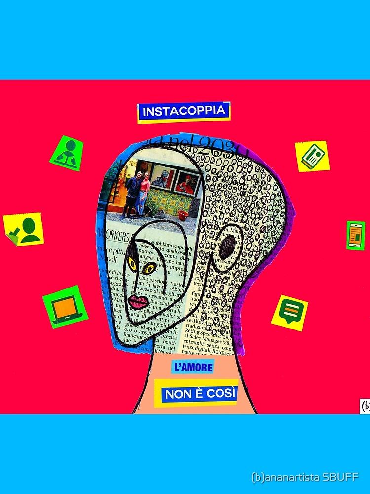 Instacoppia l'amore non è così (instagram art collage) by bananartista