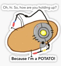Glados Potato Stickers Redbubble