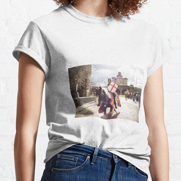 Knight defending Newcastle Castle Classic T-Shirt