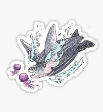 Pegatina Leatherback Sea Turtle
