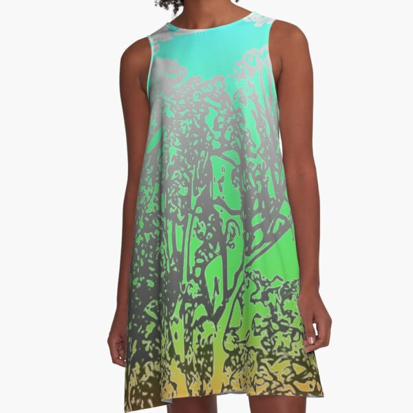 WAussie Forest A-Line Dress