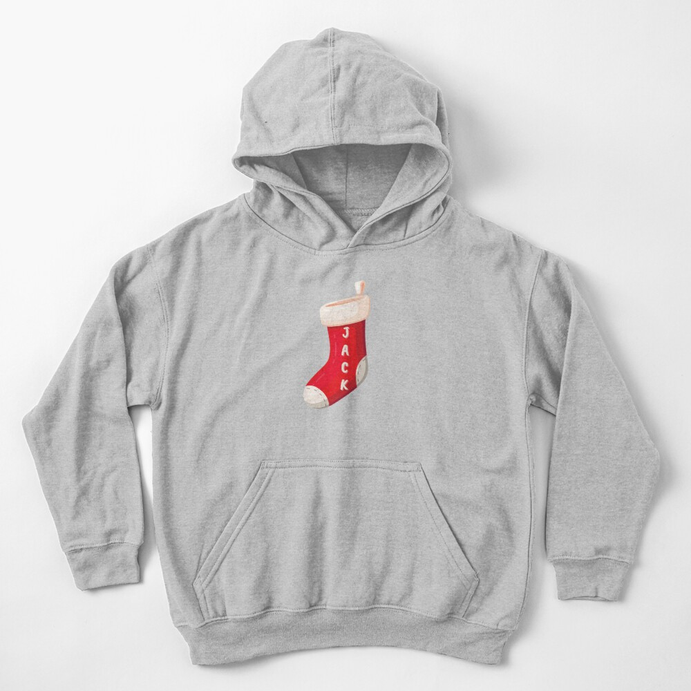 Stocking with name Jack Kids Pullover Hoodie
