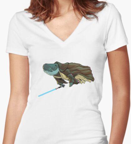 O.B. 1 Kenobi Women's Fitted V-Neck T-Shirt