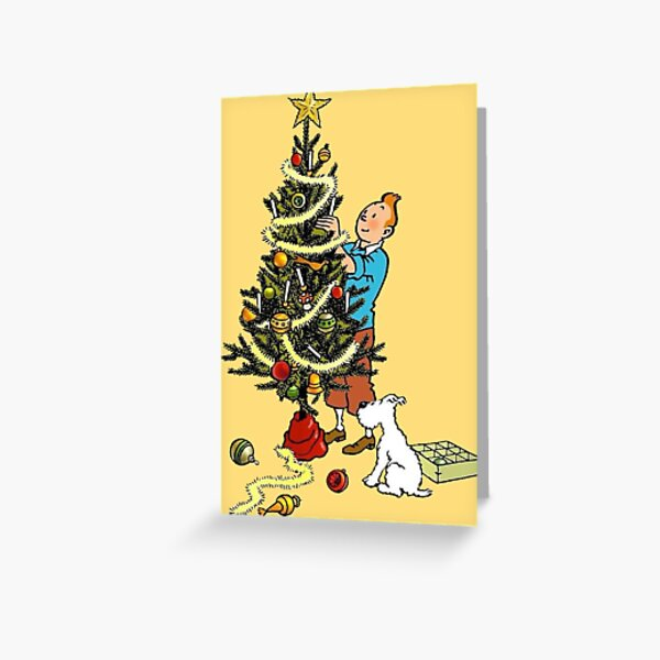 Merry Christmas from Tintin and Snowy Greeting Card