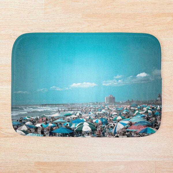 Under The Umbrella New Jersey Coastal Beach Art Bath Mat