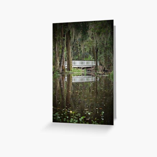 Swamp Lily Bridge Greeting Card