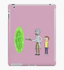 Rick & Morty makin' a portal iPad Case/Skin