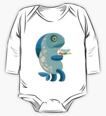 Fish Thing with a Squirt Gun One Piece - Long Sleeve