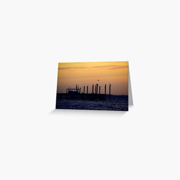 Silhouettes on the Pier Greeting Card