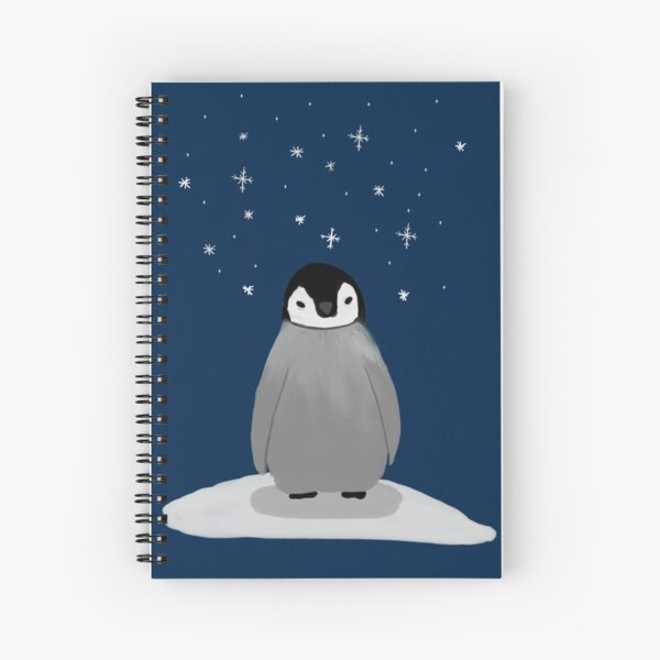 Happy Little Penguin Spiral Notebook