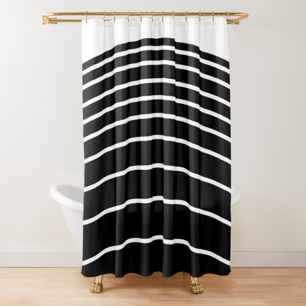 Arches - black and white Shower Curtain