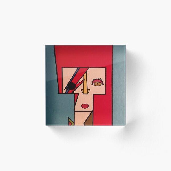 Ziggy Stardust Acrylic Block