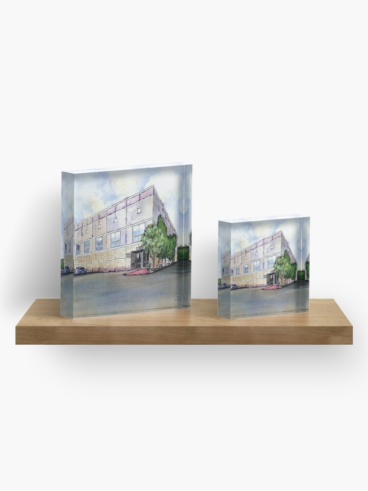 Alternate view of The Office By Pam Beesly(Halpert) Acrylic Block