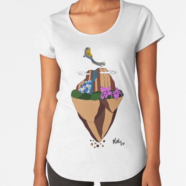 Salto Angel Flotante Camiseta premium de cuello ancho
