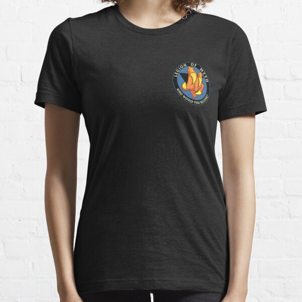 Legion of Myth Logo (Small | Black) Essential T-Shirt