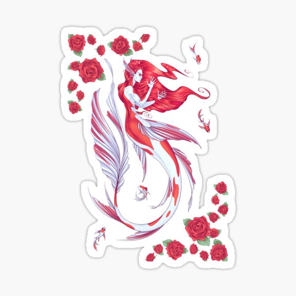 Koi Mermaid Sticker