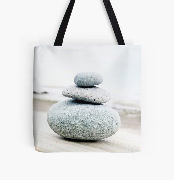 Calming Coastal Cairn All Over Print Tote Bag