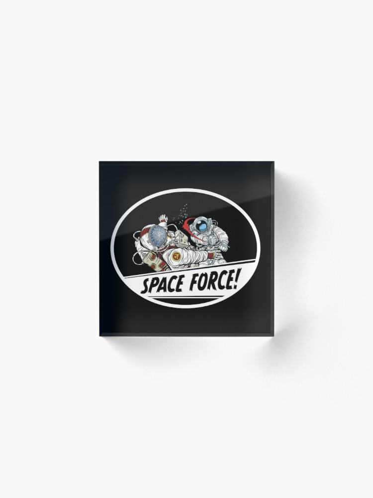 Alternate view of United States Space Force Acrylic Block