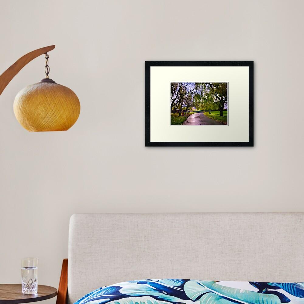 Hylands Park Path Framed Art Print