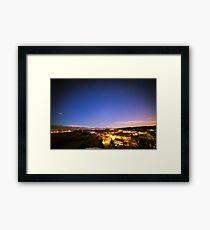 sunset at the village Framed Print