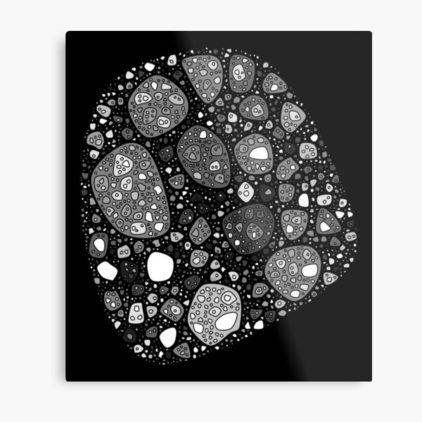 Abstract Fossil Metal Print